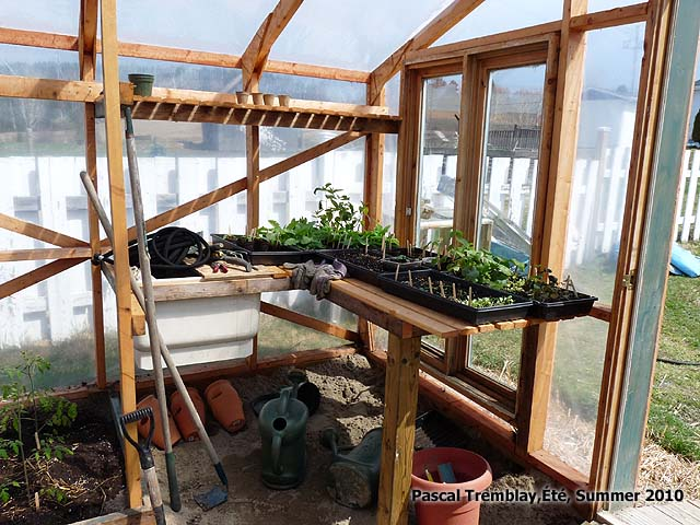 Potting bench with sink soil - Build Potting bench Free Plan - Ideas for greenhouse design