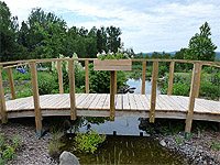 Backyard bridge building steps arched pond bridge plan for Garden pond building instructions
