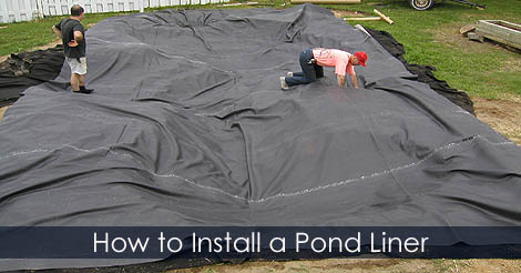 How to fit a pond liner