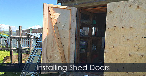 How To Install Shed Doors   How To Fix Shed Door   How To Make And