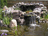 How to Build a Waterfall for a Pond  Steps Instructions ...