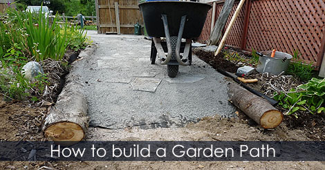 garden path building guide how to build a cheap garden path diy plan. Black Bedroom Furniture Sets. Home Design Ideas