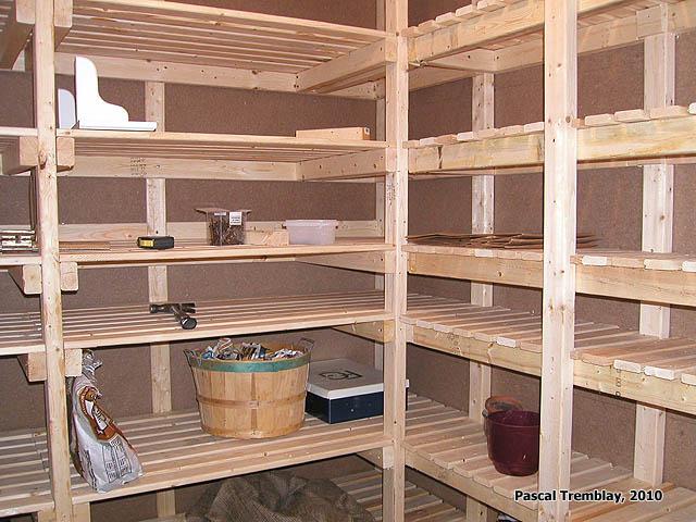 Food Storage Shelves And Vegetable Bins